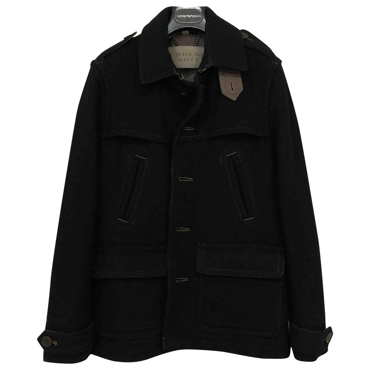 Burberry - Manteau   pour homme en laine - noir