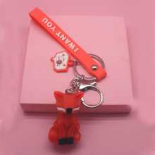 Fox Charm Keychain