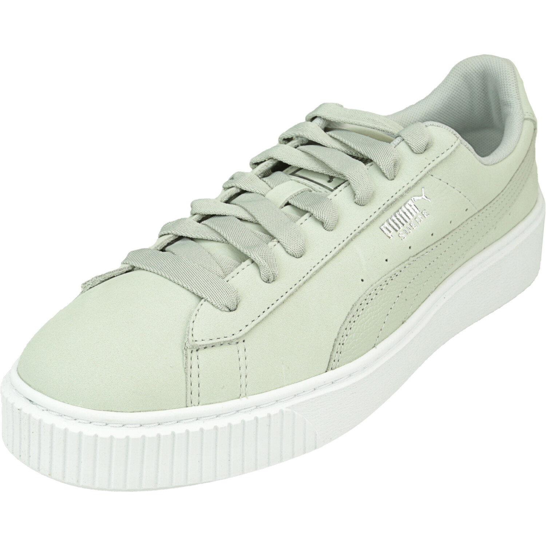 Puma Women's Platform Shimmer Gray Violet / White Ankle-High Suede Sneaker - 11.5M