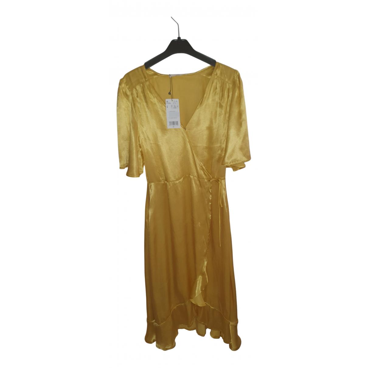 Mango - Robe   pour femme - jaune
