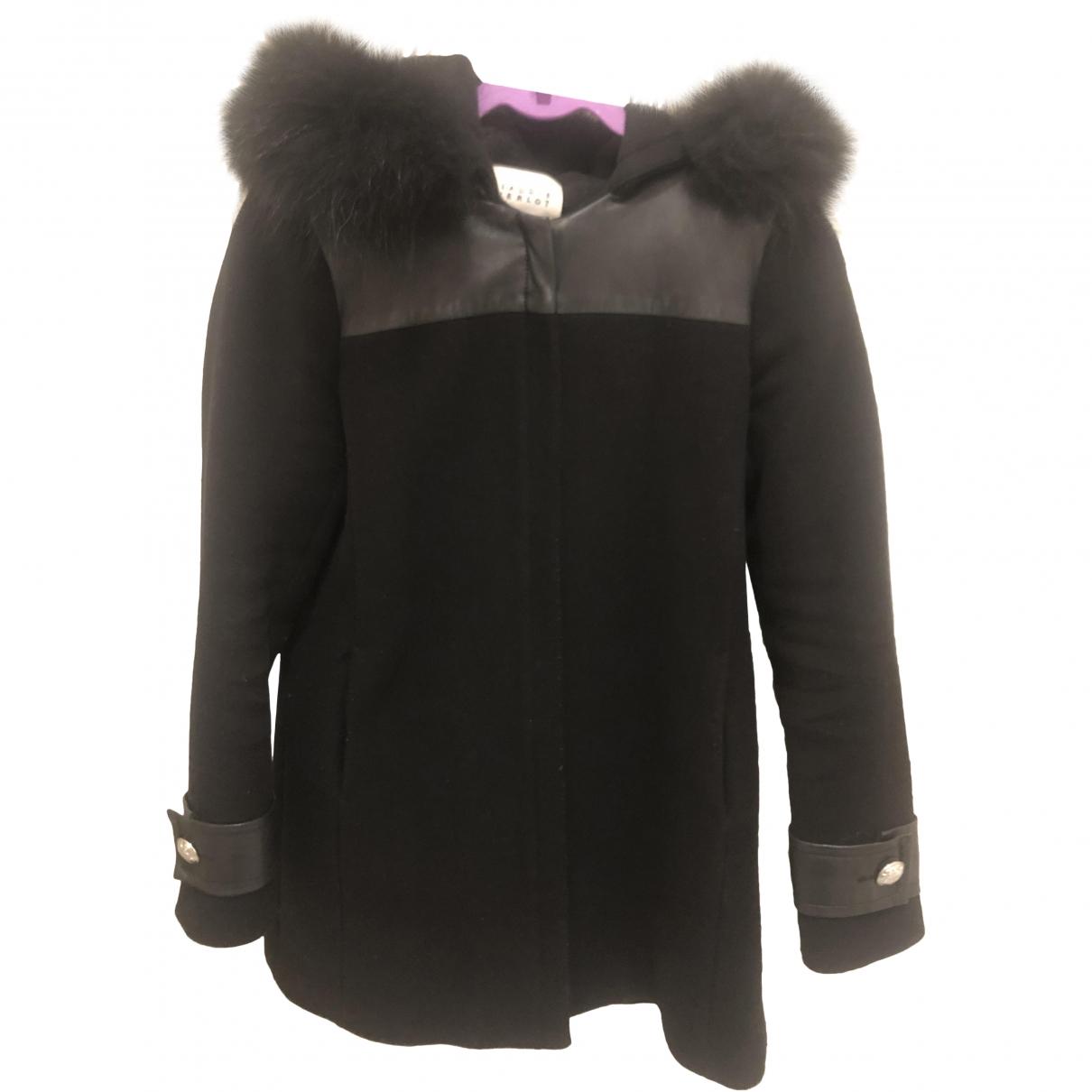 Claudie Pierlot - Manteau   pour femme en laine - noir