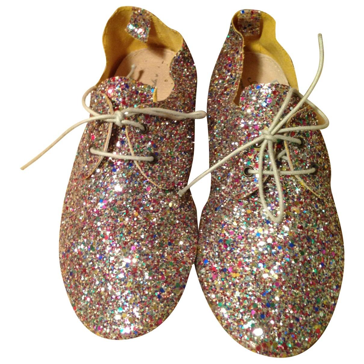 Agnelle \N Multicolour Glitter Ballet flats for Women 38 EU