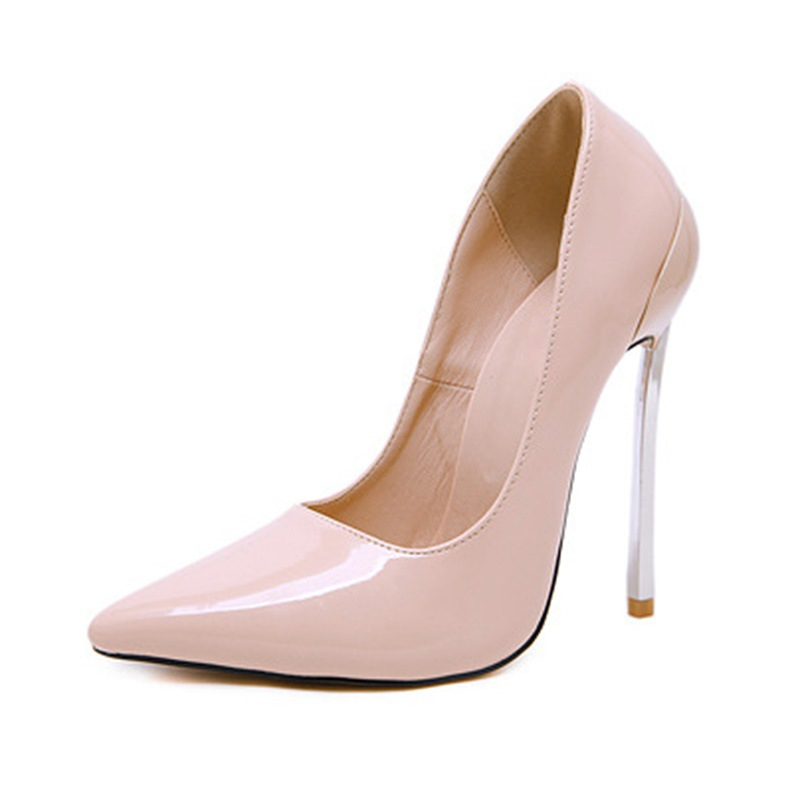 Ericdress PU Stiletto Heel Slip-On Pointed Toe Women's Pumps