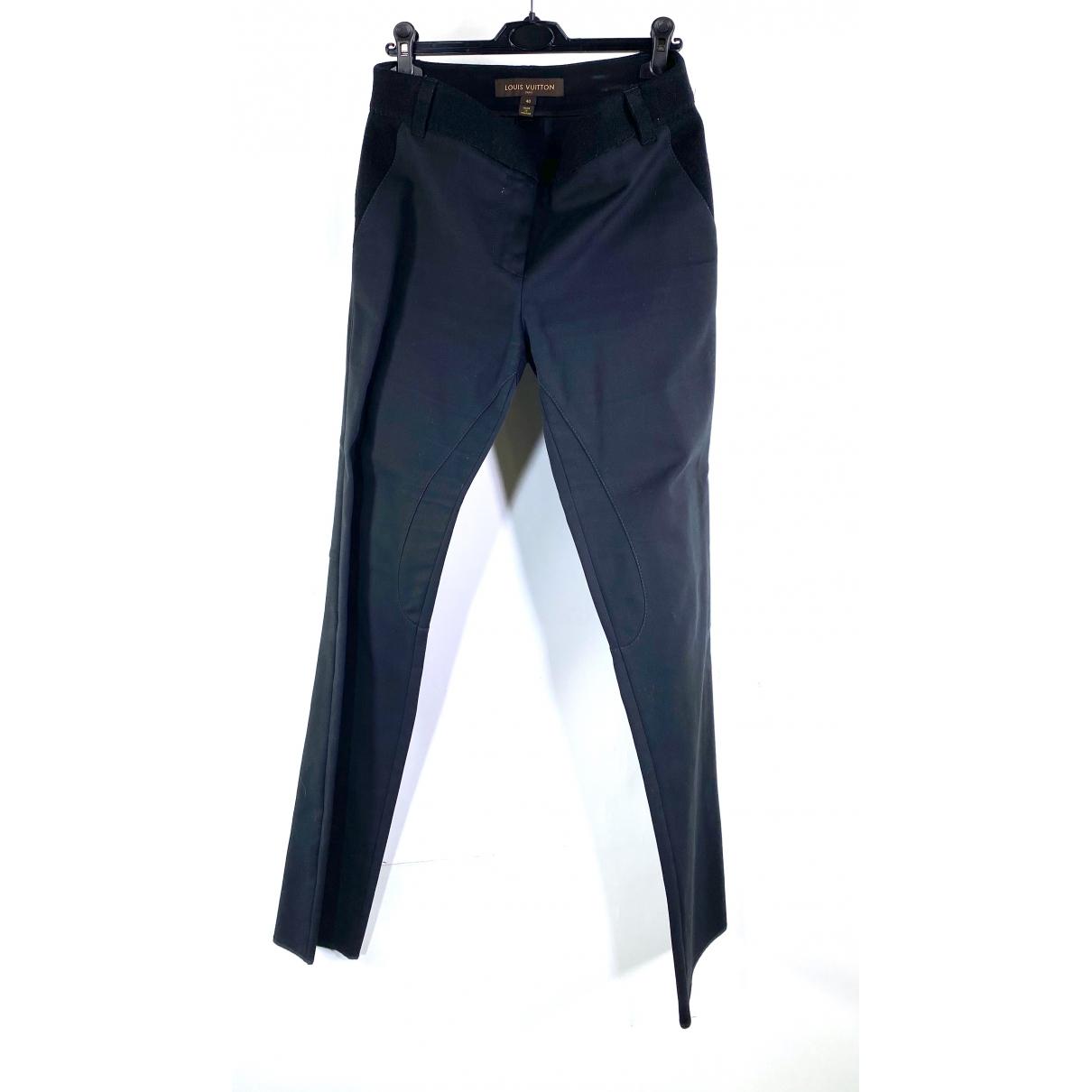 Louis Vuitton - Pantalon   pour femme en coton - noir