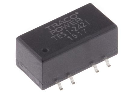 TRACOPOWER TES 1 1W Isolated DC-DC Converter Surface Mount, Voltage in 21.6 → 26.4 V dc, Voltage out ±5V dc