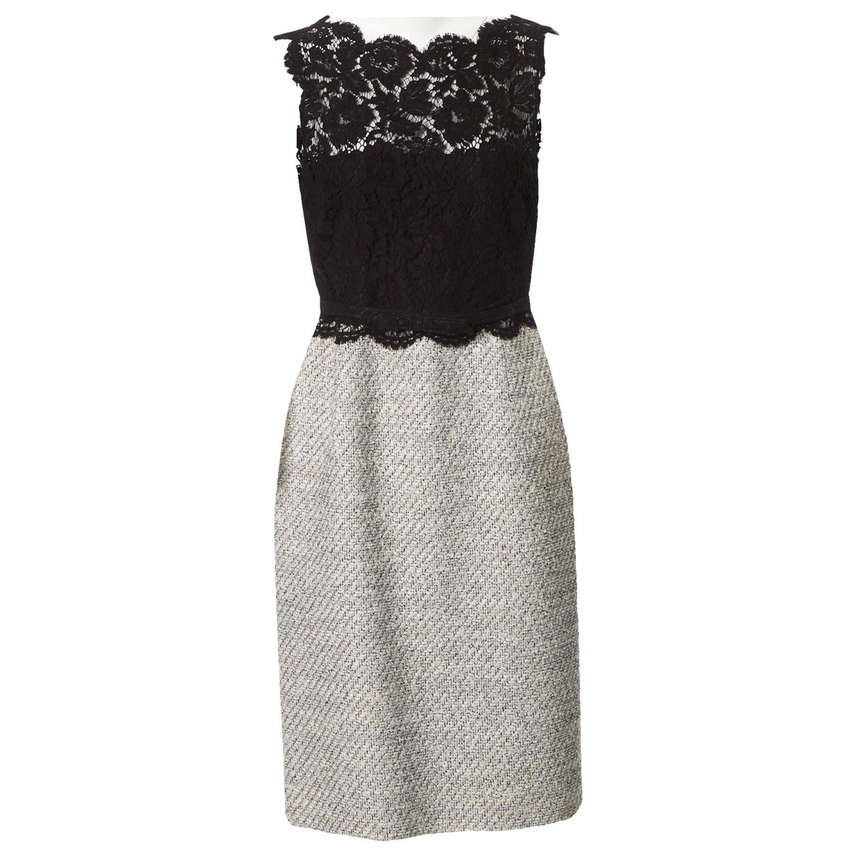 Valentino Garavani \N Black Cotton dress for Women 44 IT
