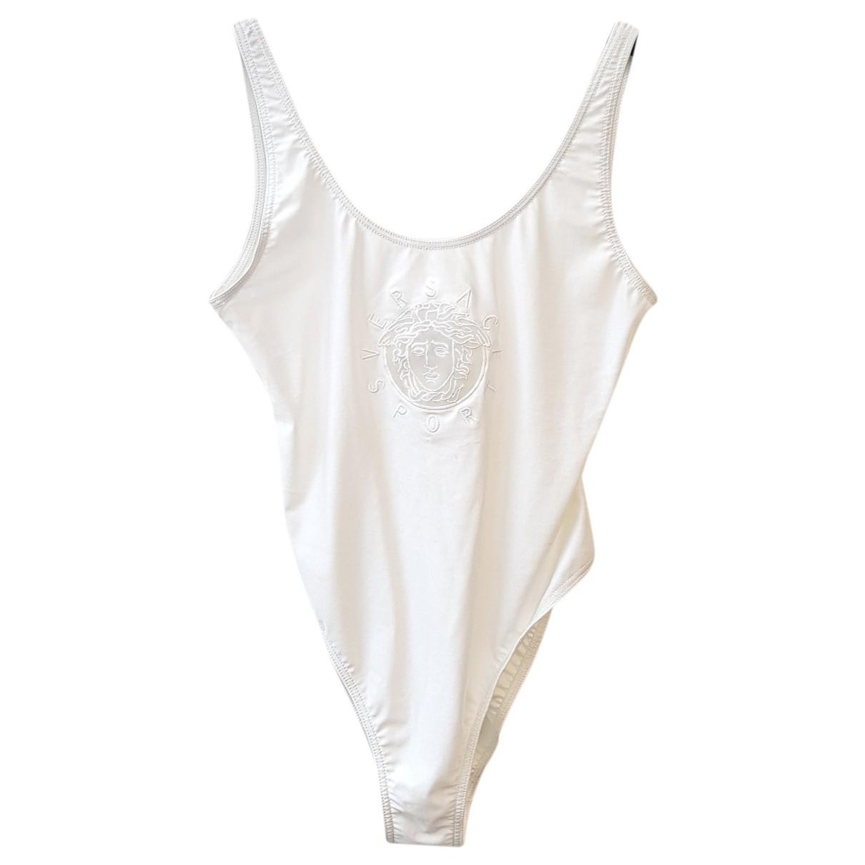 Versace \N Badeanzug in  Weiss Lycra
