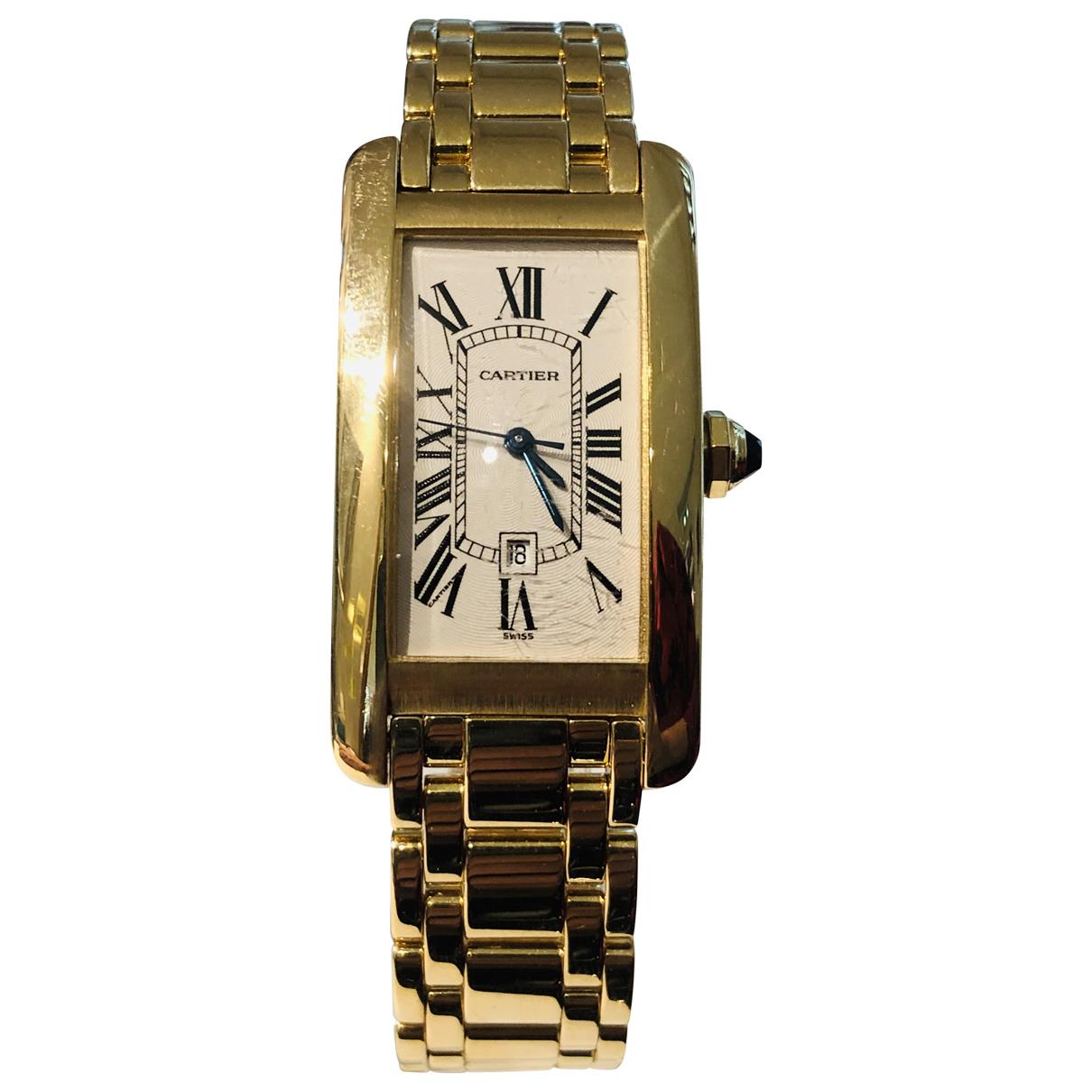 Cartier Tank Américaine Gold Yellow gold watch for Women N