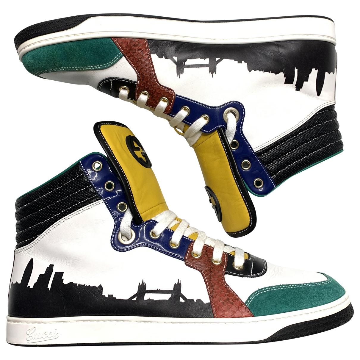 Gucci - Baskets   pour homme en cuir - multicolore