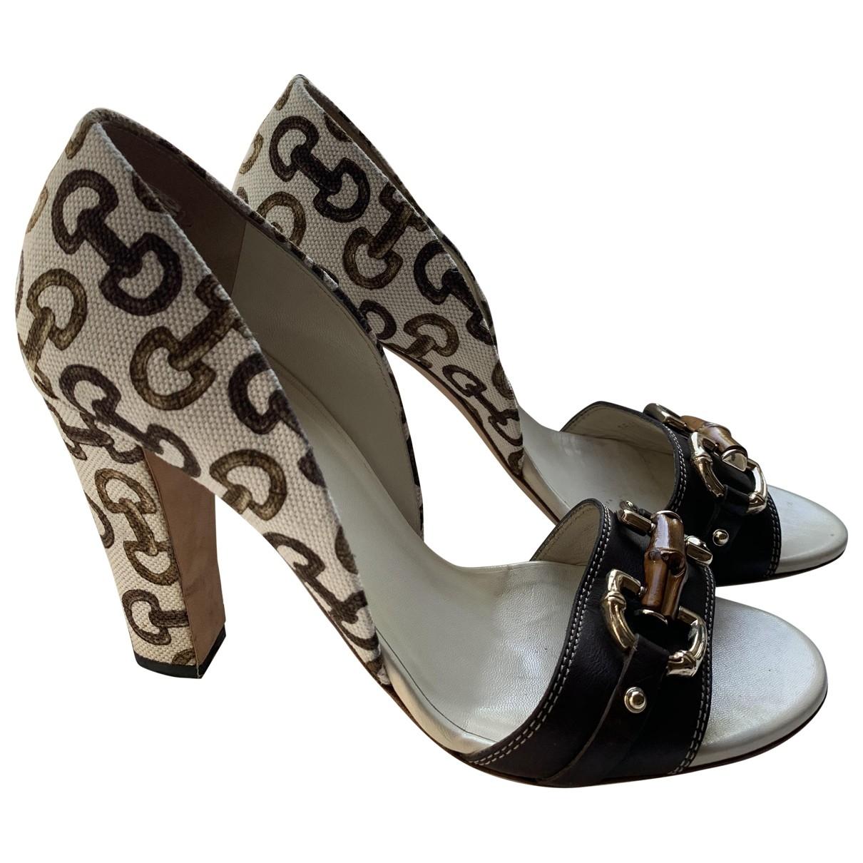 Gucci \N Beige Cloth Heels for Women 39 EU