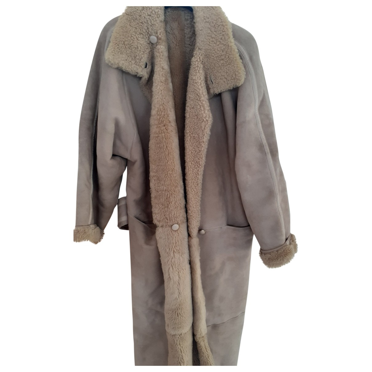 Gianni Versace \N Beige Wool coat for Women One Size FR