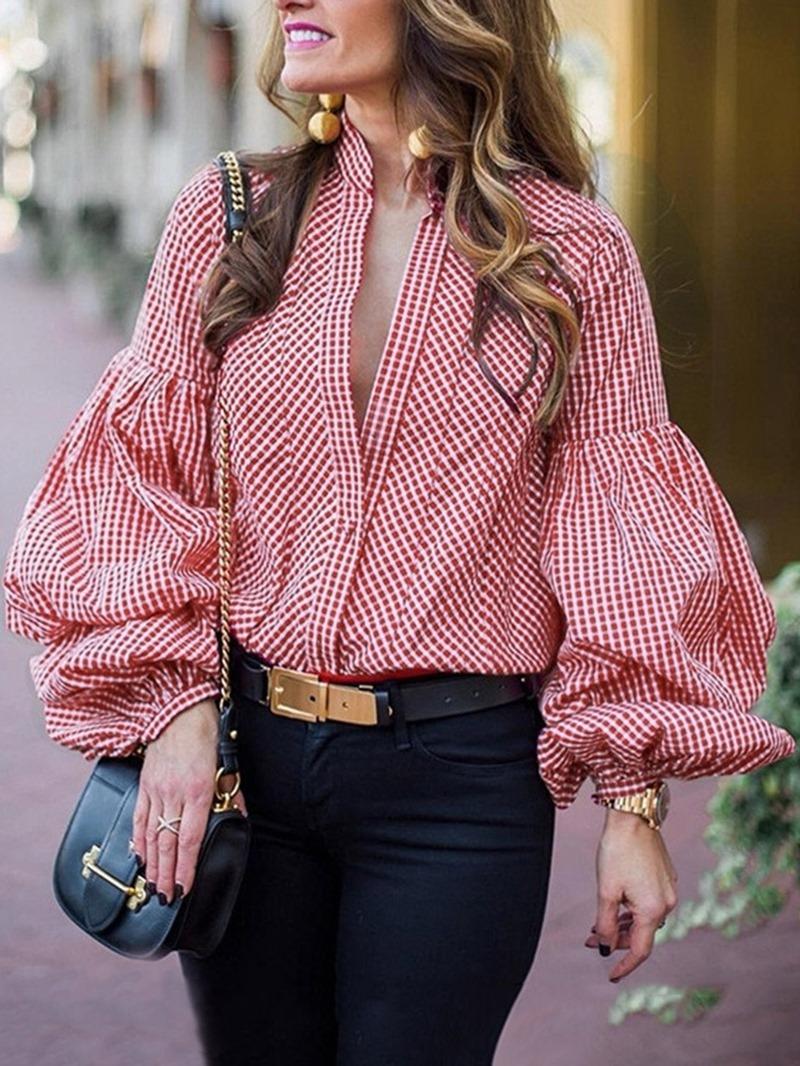 Ericdress Office Lady Standard Long Sleeve Blouse