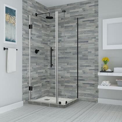 SEN967EZ-ORB-352930-10 Bromley 34.25 To 35.25 X 30.375 X 72 Frameless Corner Hinged Shower Enclosure In Oil Rubbed