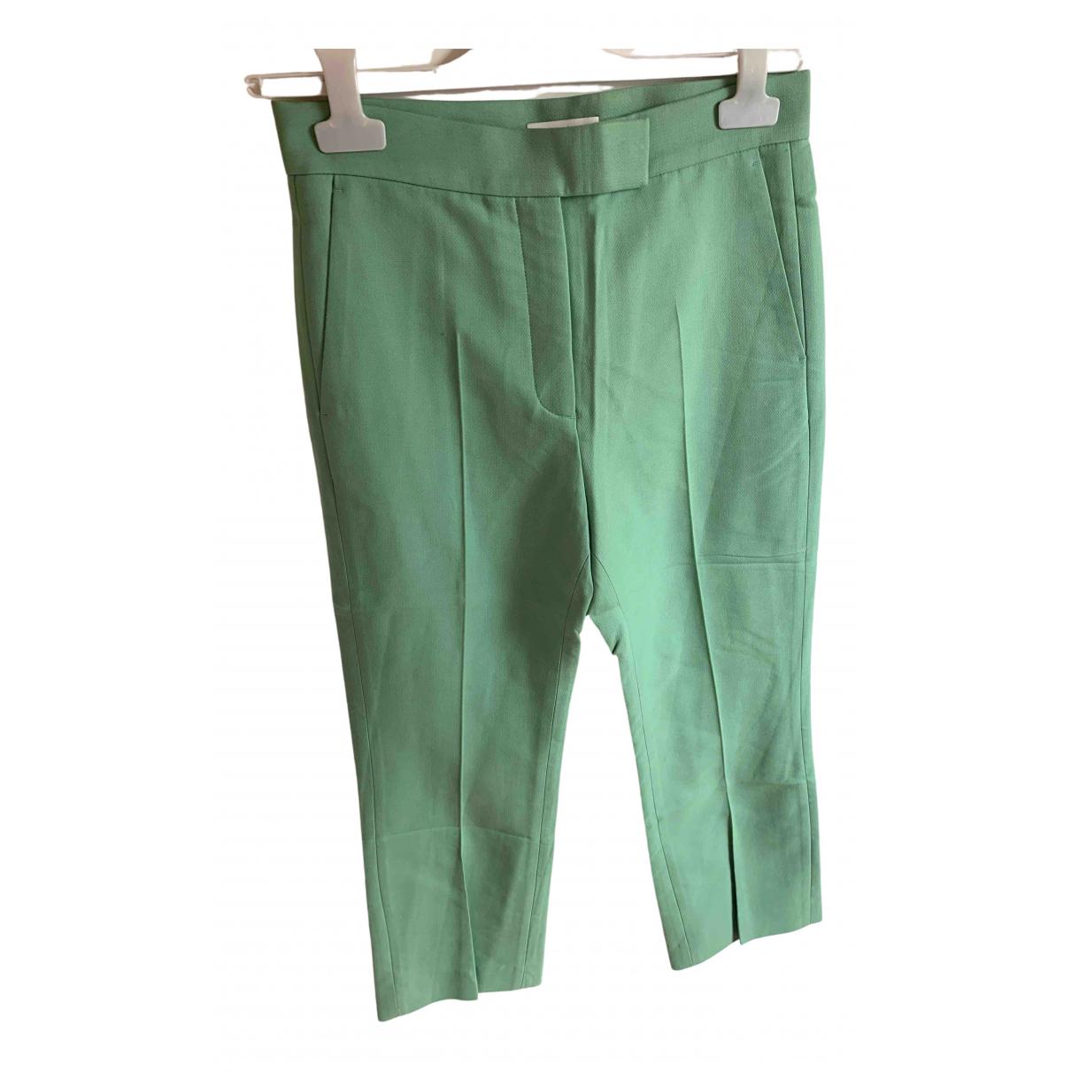 Sandro - Pantalon   pour femme en coton - vert