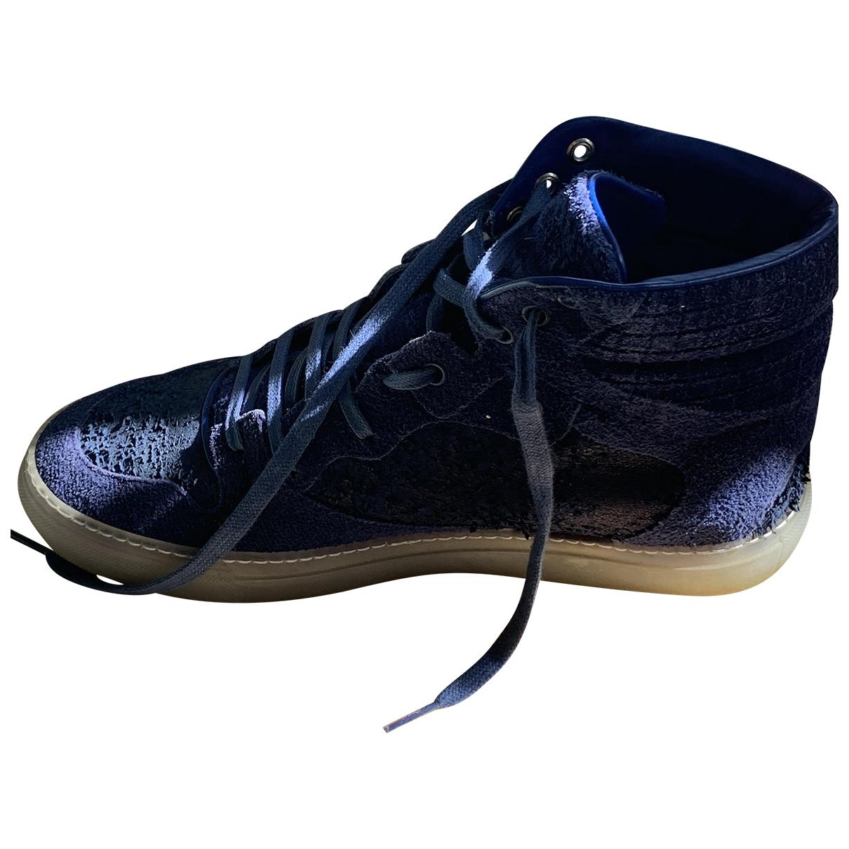 Balenciaga - Baskets   pour homme en suede - bleu