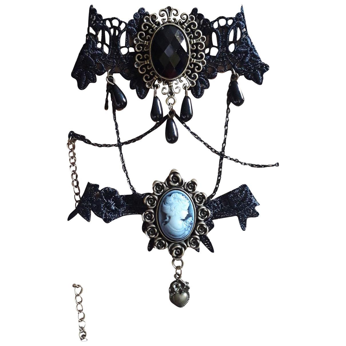 Non Signé / Unsigned Camée Cloth necklace for Women N