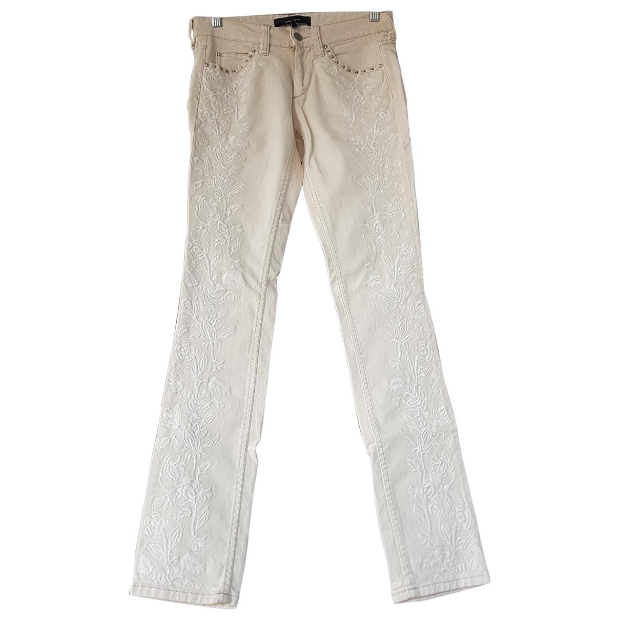 Isabel Marant \N Ecru Cotton Jeans for Women 36 FR