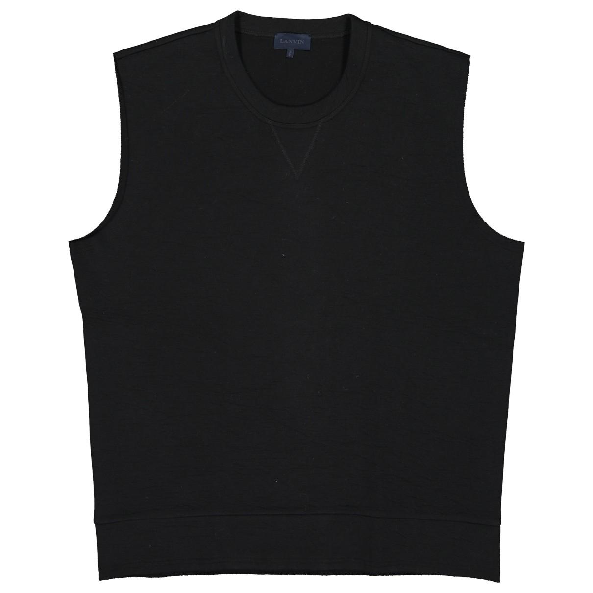 Lanvin - Pulls.Gilets.Sweats   pour homme en coton - noir