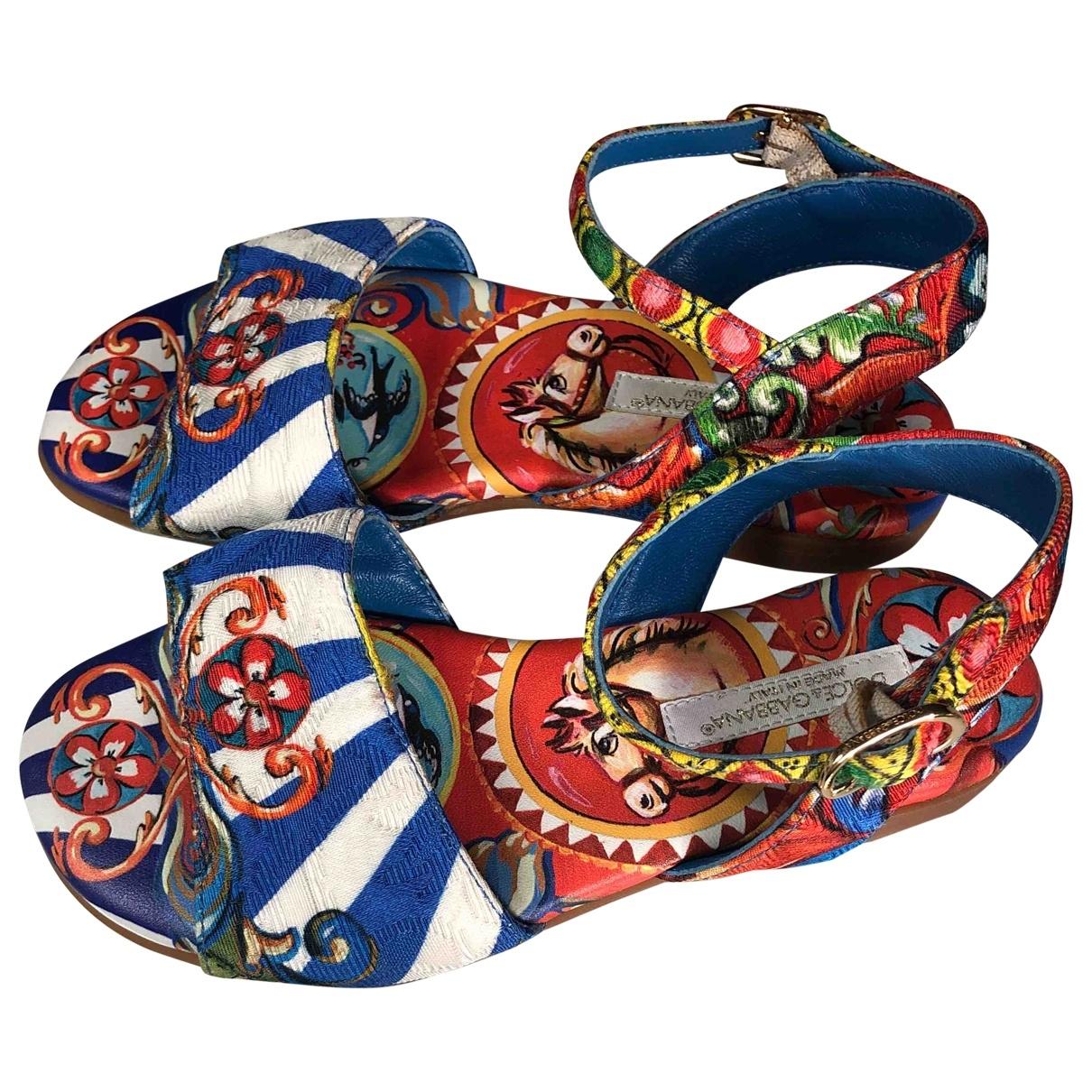 Dolce & Gabbana - Sandales   pour enfant en toile - multicolore