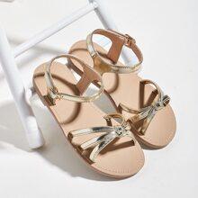 Toddler Girls Metallic Ankle Strap Sandals