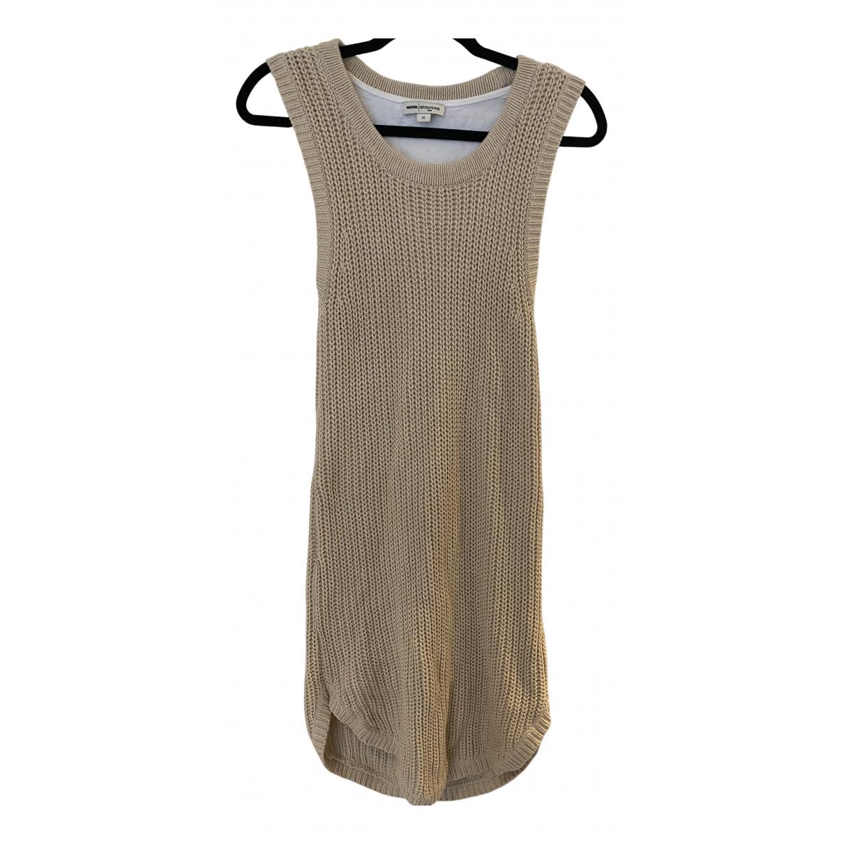 Reiss \N Kleid in  Beige Baumwolle