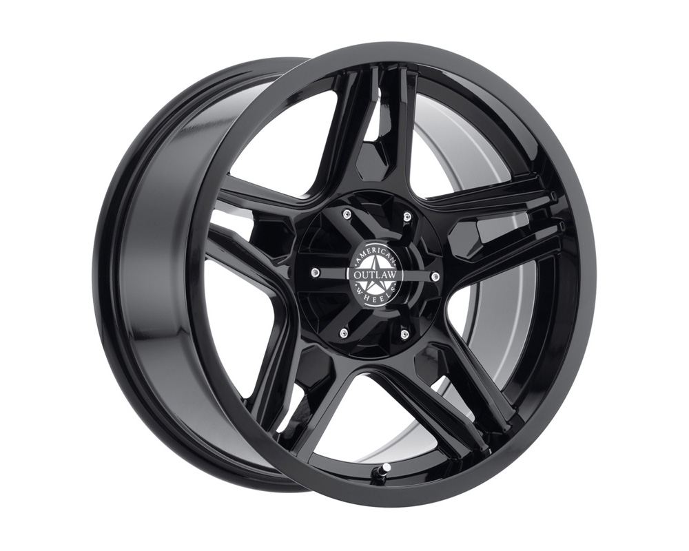 American Outlaw Wheels 124-2284GB Lonestar Full Painted Gloss Black Wheel 22x11.5 6x139.7 -38