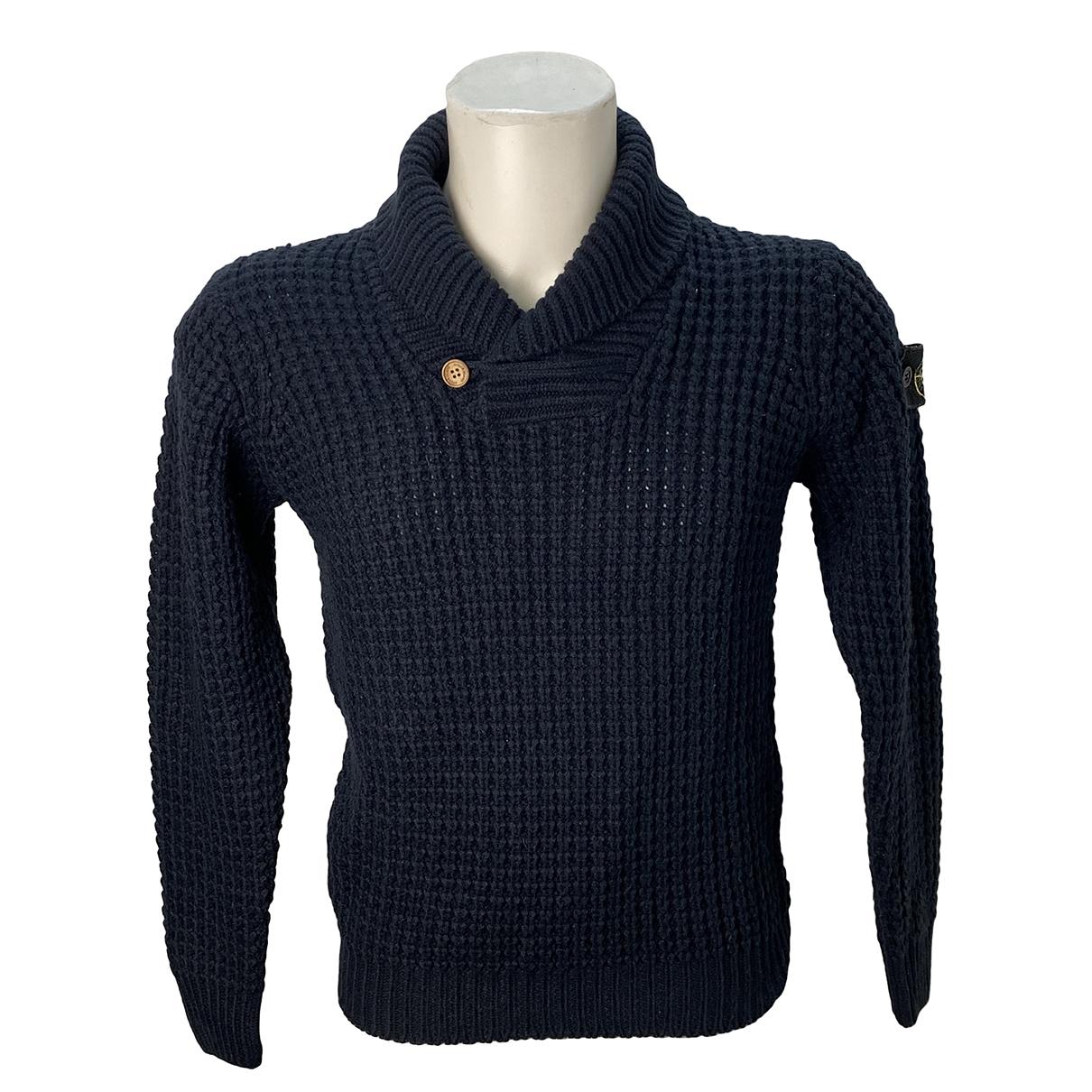 Stone Island - Pulls.Gilets.Sweats   pour homme en laine - bleu