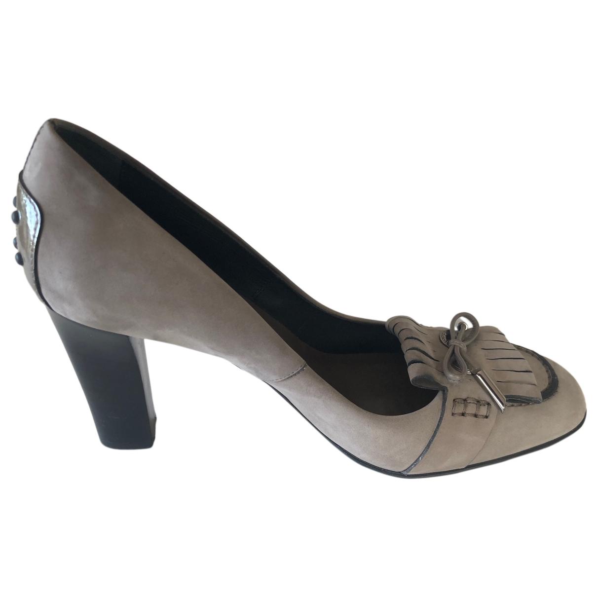 Tods - Escarpins   pour femme en suede - gris
