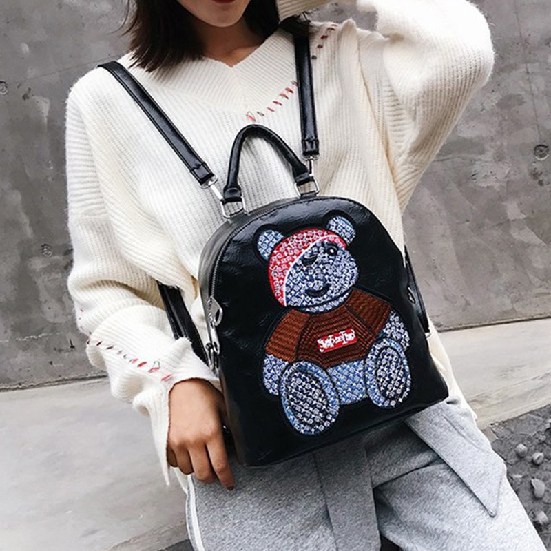Ericdress Applique Soft Cartoon PU Backpacks