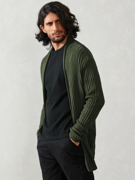 Yoins Men Autumn Streetwear Thin Long Sleeve Knitted Cardigan Sweater
