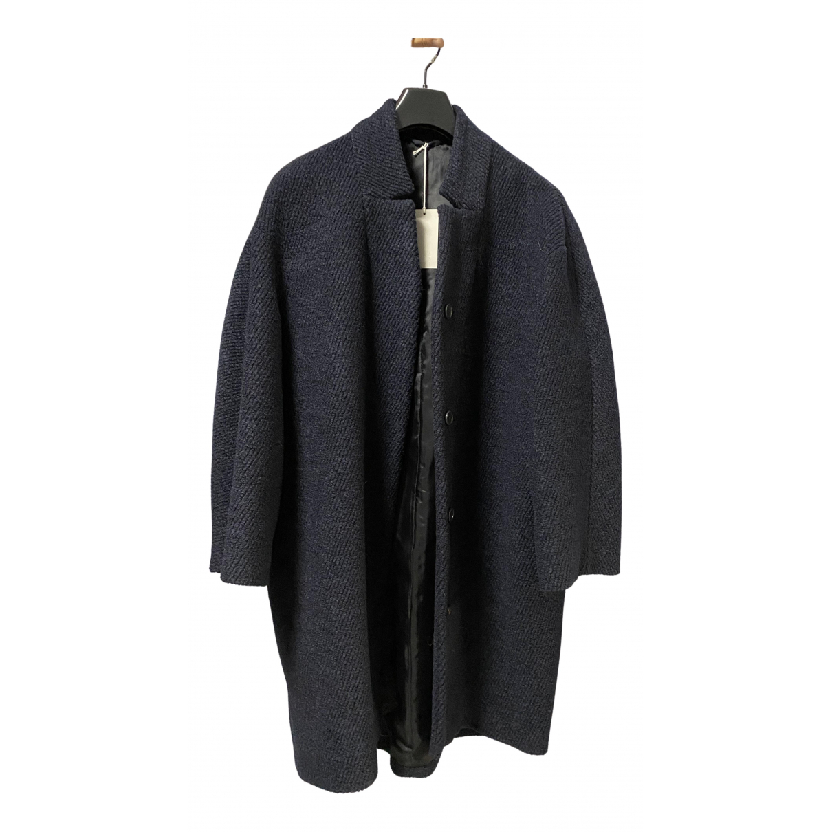 Cos - Manteau   pour femme en laine - bleu