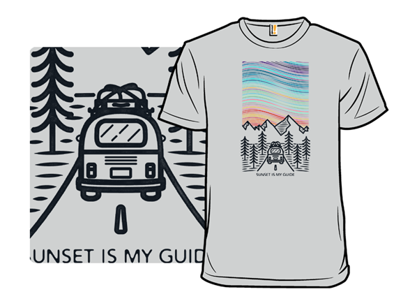 Sunset Is My Guide T Shirt