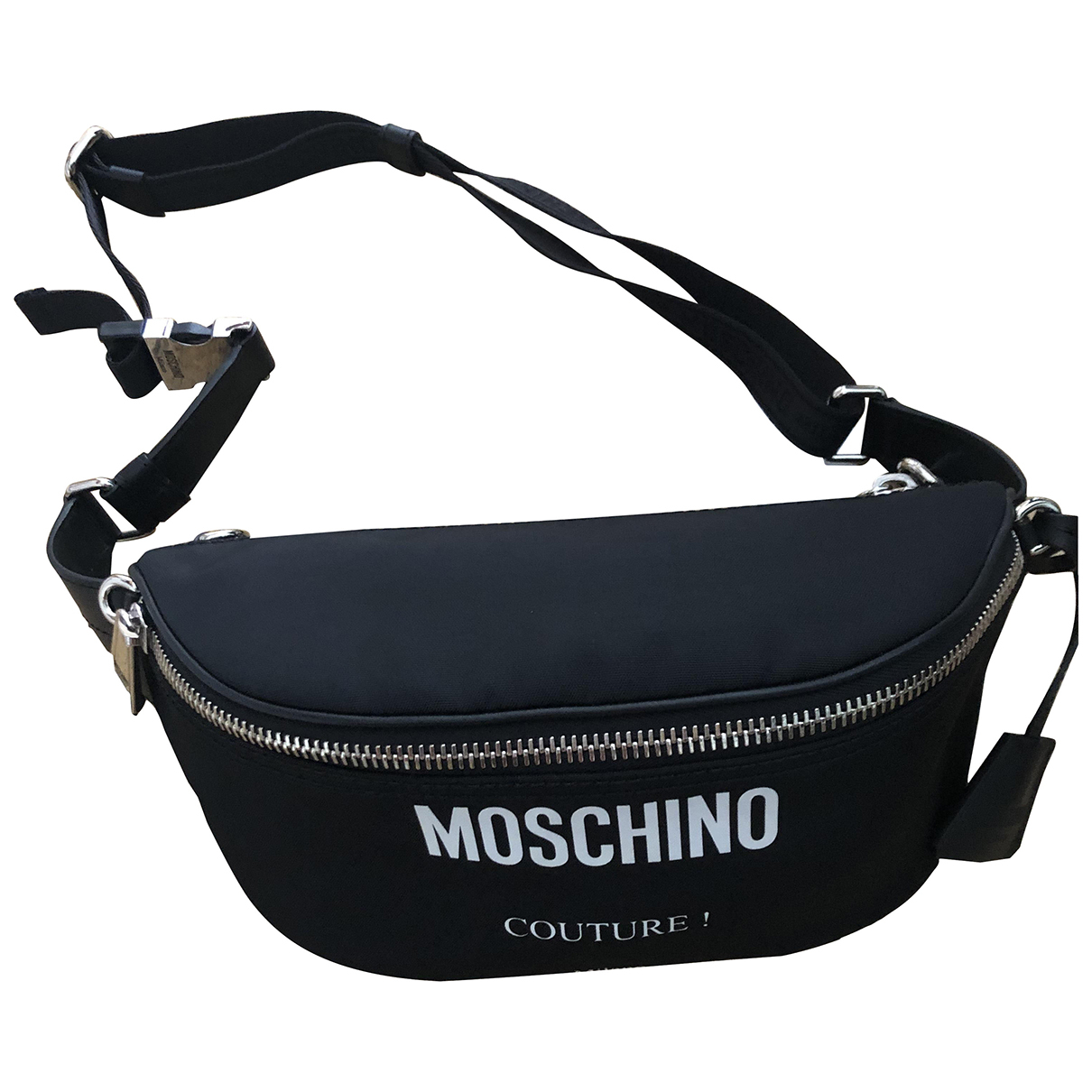 Moschino \N Black Cloth Clutch bag for Women \N