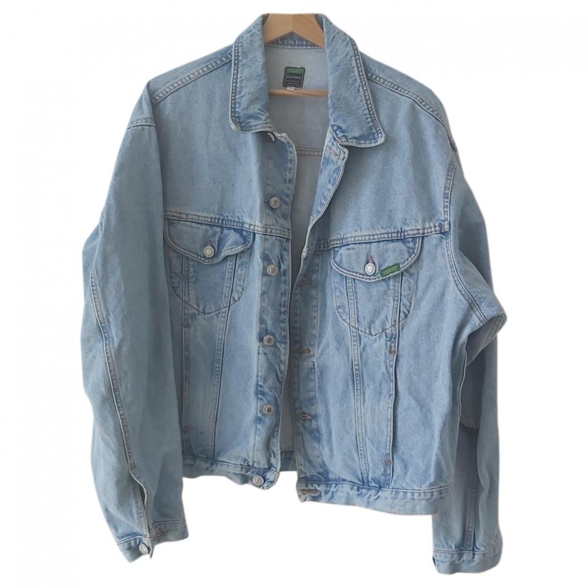Non Signé / Unsigned Oversize Blue Denim - Jeans jacket  for Men 50 IT
