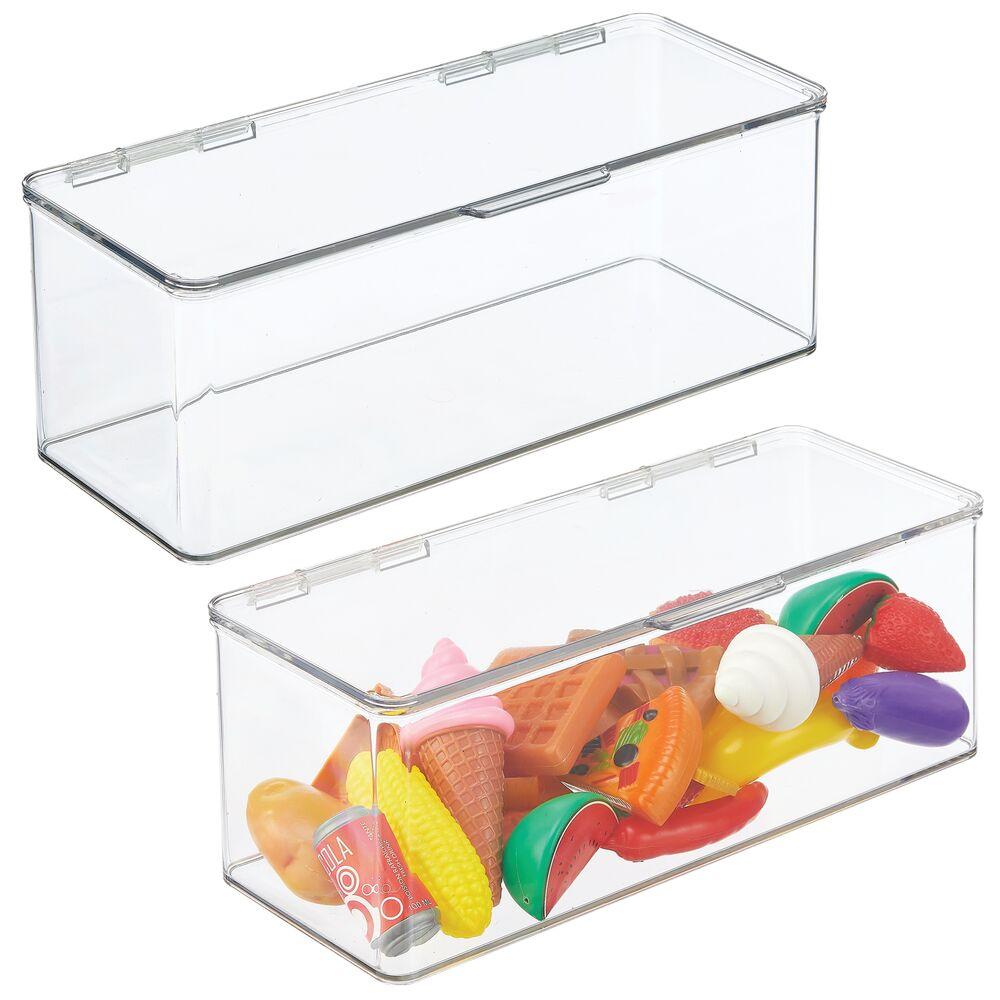 Long Plastic Stackable Toy Storage Bin - 5.75
