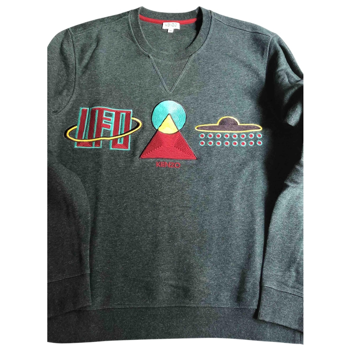Kenzo \N Pullover.Westen.Sweatshirts  in  Gruen Baumwolle