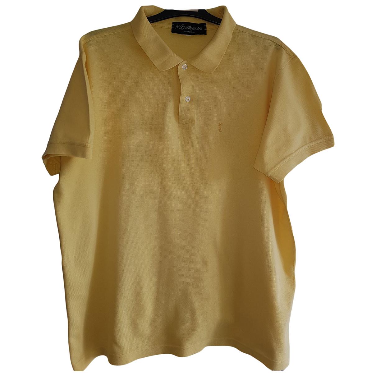 Yves Saint Laurent \N Poloshirts in  Gelb Baumwolle