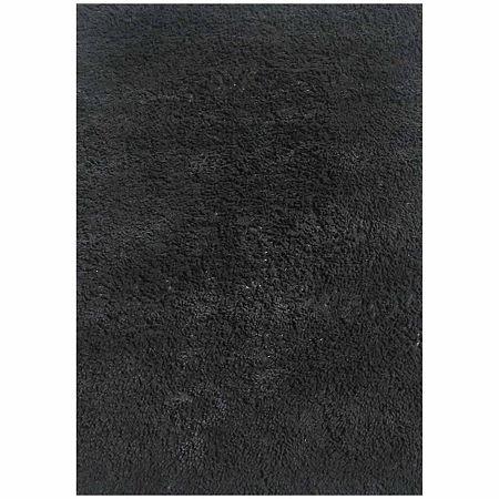 Shag Rectangular Rugs, One Size , Black