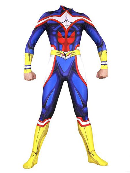 Milanoo My Hero Academia BNHA All Might Halloween Cosplay Costume Zentai Suit