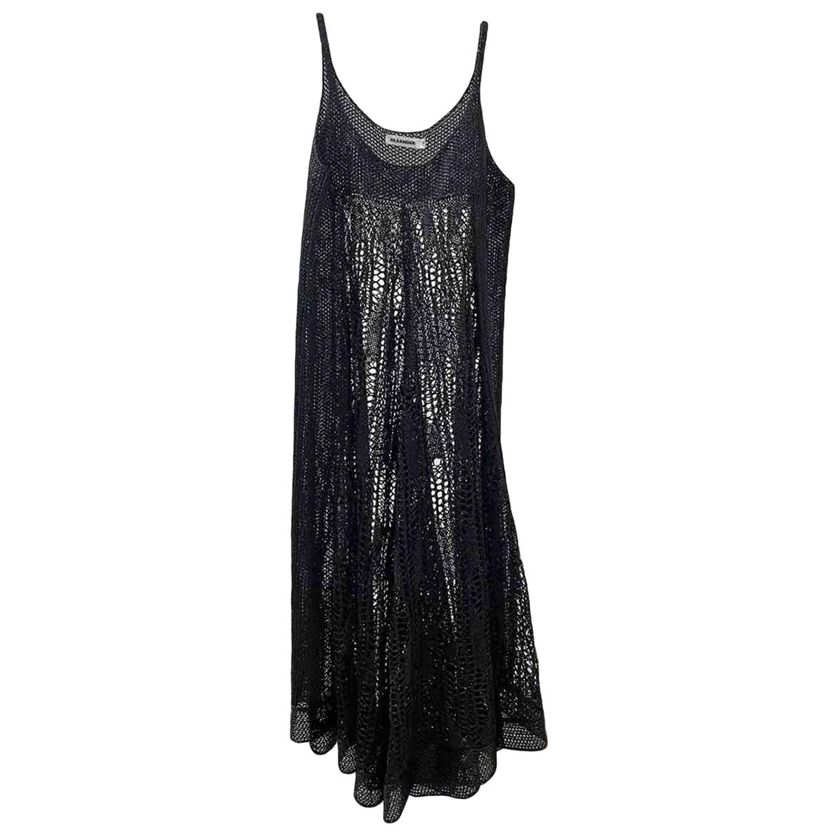 Jil Sander \N Kleid in  Schwarz Synthetik