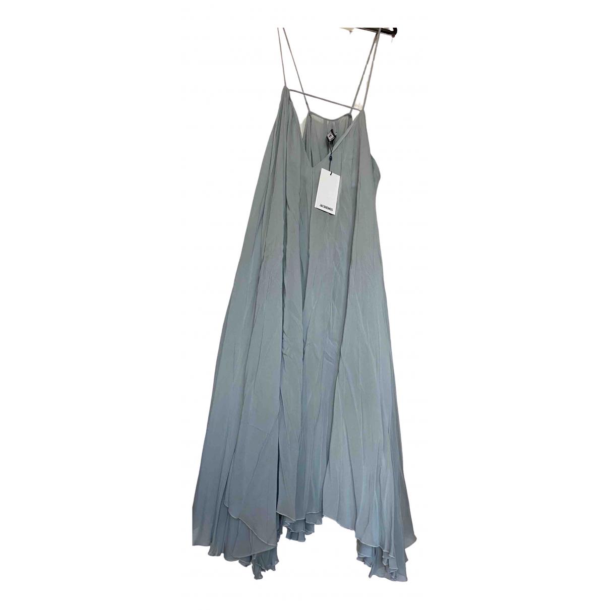 Jacquemus La Riviera Kleid in  Blau Viskose