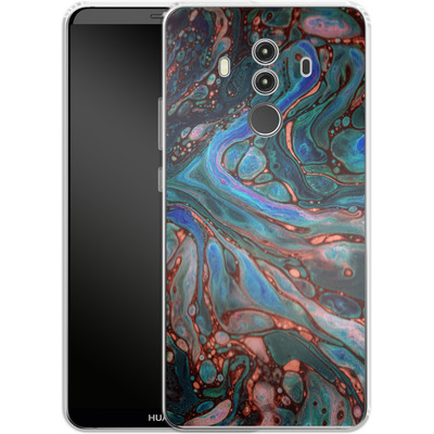 Huawei Mate 10 Pro Silikon Handyhuelle - Marbled Darkness von Amy Sia