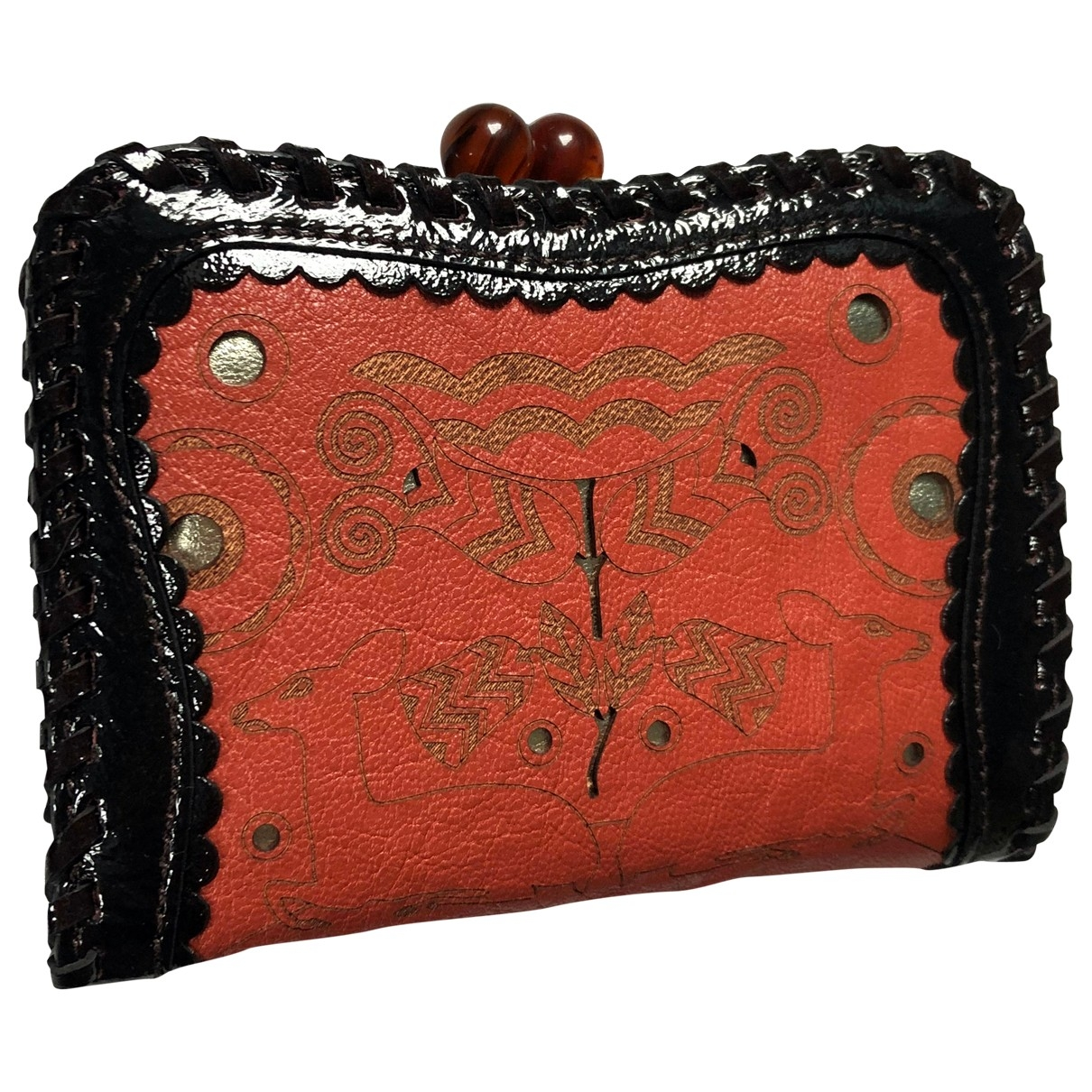 Anna Sui \N Orange Leather wallet for Women \N
