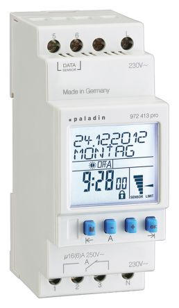 Muller Twilight Switch Timer Light Switch 1 Channel, 230 V
