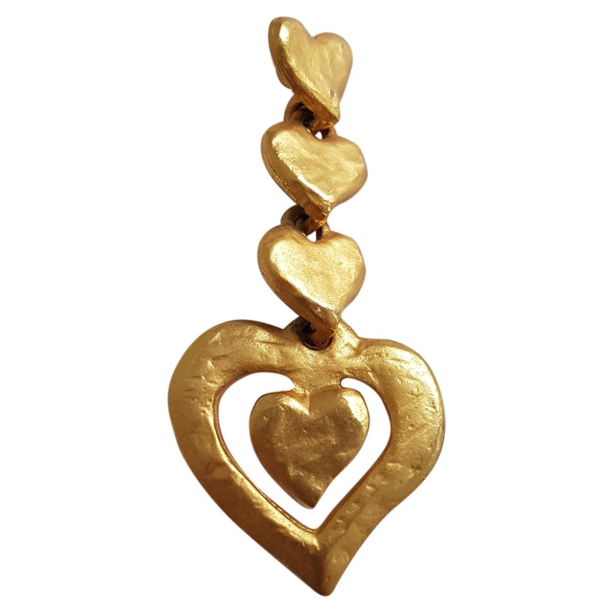Yves Saint Laurent N Gold Steel pendant for Women N