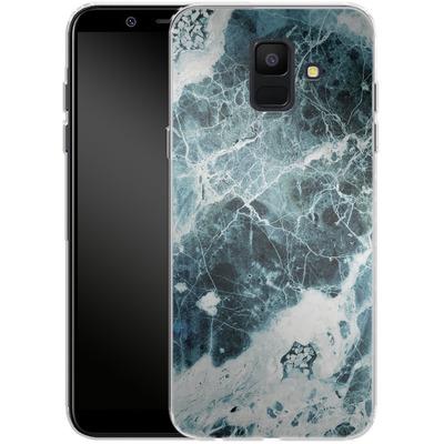 Samsung Galaxy A6 Silikon Handyhuelle - Blue Sea Marble von Emanuela Carratoni