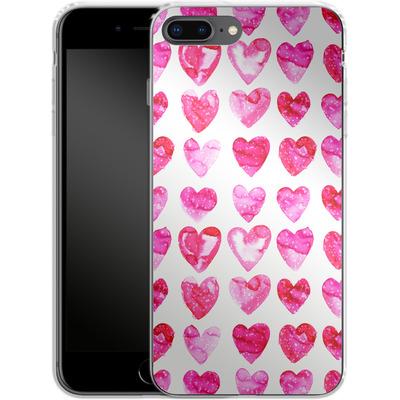 Apple iPhone 7 Plus Silikon Handyhuelle - Heart Speckle von Amy Sia