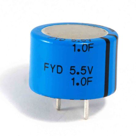 KEMET 0.047F Supercapacitor -20 → +80% Tolerance, FYH 5.5V dc, Through Hole (800)