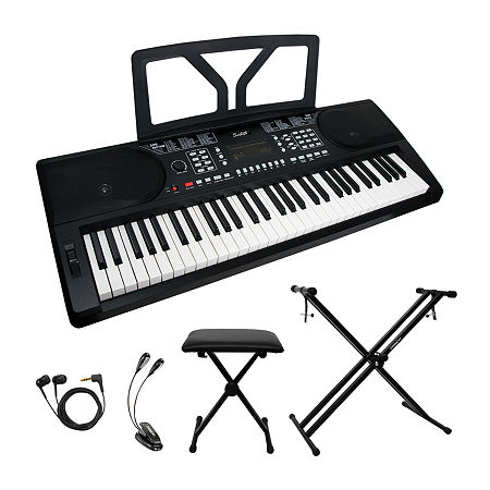 Sawtooth 61-key Portable Keyboard with Accessories, One Size , Black