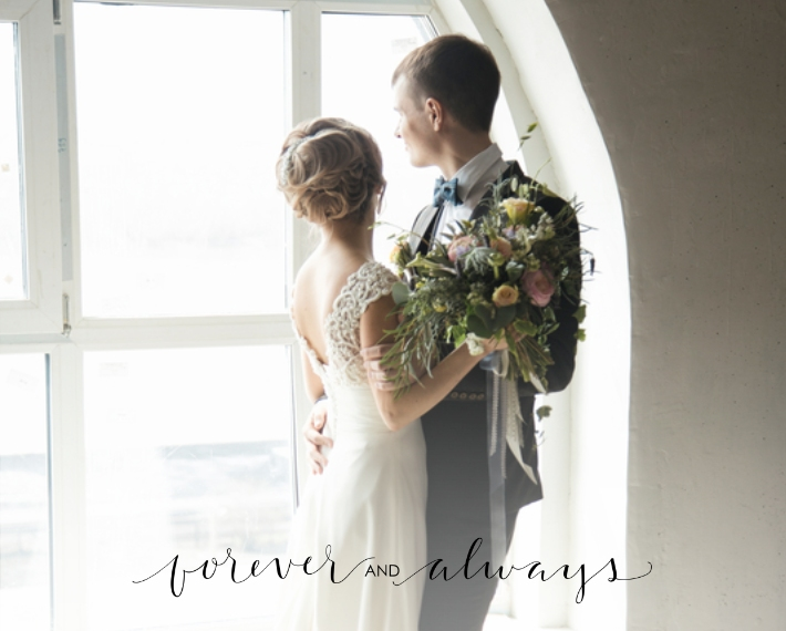 Wedding 16x20 Wood Panel, Home Décor -Forever and Always